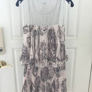 BCBG Riley Metallic Rose Lace Dress Size 6